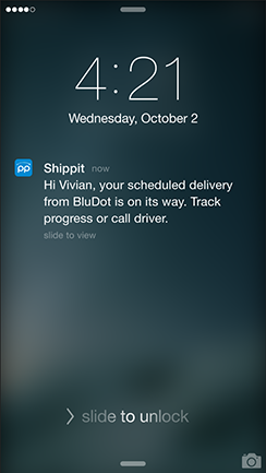 Screen notification